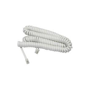 Cable Telefonico Espiralado 4Mts Blanco
