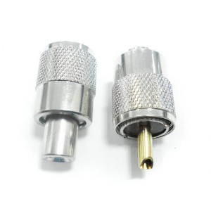 Conector PL 259 macho para clabe RG 58